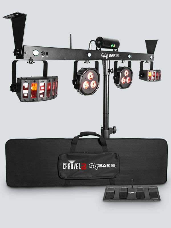 CHAUVET DJ GigBAR 2 - 4-in-1 Multi-Effect Light w/ Laser Derby Strobe Bag