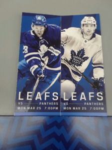 Leafs vs Panthers March 25 ROW 5