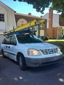 2006 Ford Free Star Cargo Van with ladder & rack