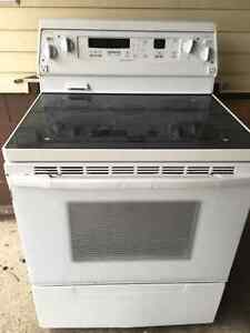 Kitchen Aid Stove and Inglis side by side fridge Freezer