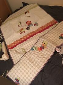 Mamas and papas ,Cot quilt, bumper and mobile