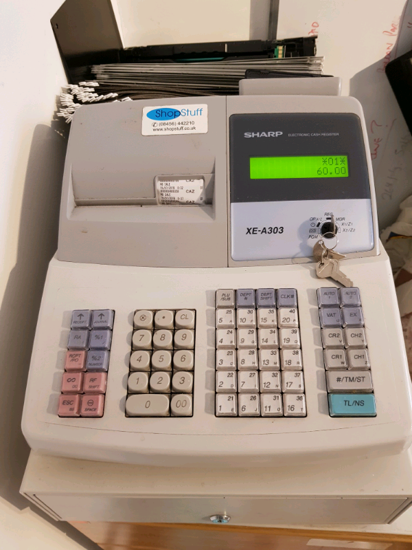 Sharp XE-A303 Electronic Cash Register With Till Rolls And Free P/&P