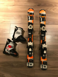 Kids ski package - 90cm skis and 16.5 boots