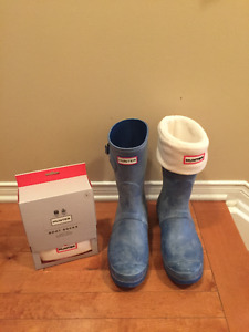 Brand new HUNTER BOOTS on Sale with Socks