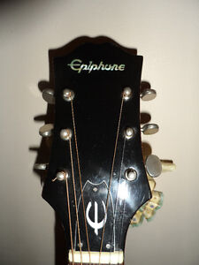 Vintage Epiphone  Dreadnought  70's Guitar W/ Case & Stand