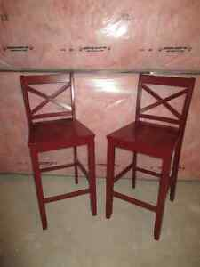 Red  Barstools (set of 2) - Almost new Cambridge Kitchener Area image 1