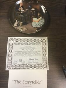 """Norman Rockwell Collector Plate """"THE STORY TELLER"""""""