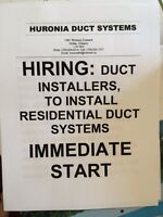 Huronia Duct Systems Hiring!!