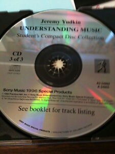 UNDERSTANDING MUSIC BY Jeremy Yudkin  Student's Compact Disc Col Kitchener / Waterloo Kitchener Area image 6