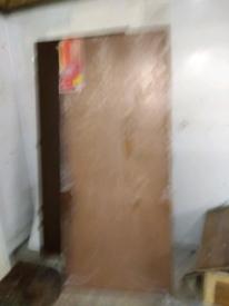 Fire Door, Ply veneer. 1981*838
