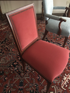 Hickory White Antique French dining room chairs