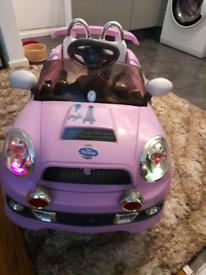 Kids Girls pink mini cooper car