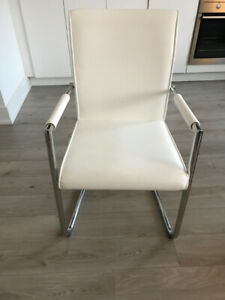 White Leather Chair - Brand new
