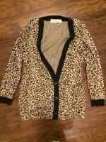 URBAN OUTFITTERS CHEETAH SPIKED CARDIGAN