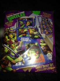 Ninja turtles single duvet set