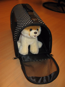 Fold-able Soft Sided Cat Pet small Dog Travel Carrier Bag Black