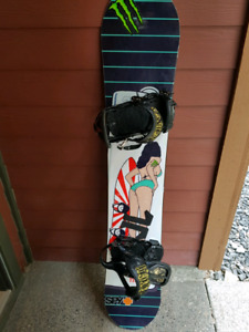 Technine Team snowboard with bindings