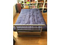 Sofa bed sturdy metal frame with futon