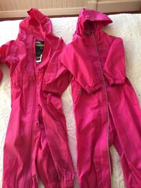 Girls puddle waterproof suits 18-24 months