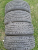 (4) 225/45/17 continental all season tires