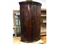 George lll Regency (1770-1790) Bow Front Cupboard