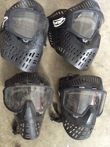 4 paintball sets, hoppers, masks, a bin of ammo, instructions... Prince George British Columbia image 2