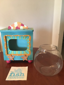Fish Bowl in TV-Type Stand