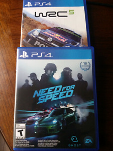 Need for speed & WRC 5 for PlayStation 4
