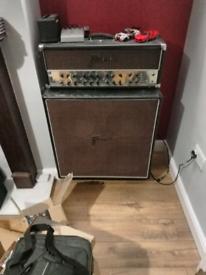 Framus Dragon guitar amp head and 4x12 v30 cab