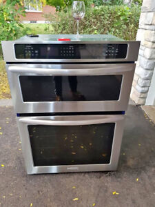 "2016 stainless steel 30"" kitchen id build in oven microwave"