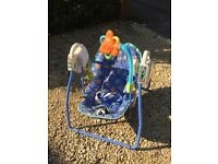 BATTERY OPERATED BLUE BABY SWING