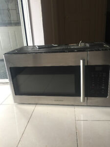 Samsung over the range stainless steel microwave for sale
