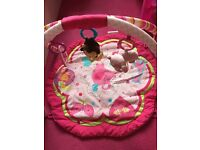 3 Items - bouncer, playnest and playmat