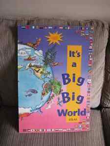 ITS A BIG BIG WORLD CHILDREN ATLAS CHART BOOK 1994 COMPLETE Kingston Kingston Area image 1