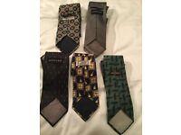 Vintage designer silk ties