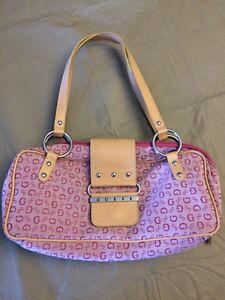 Pink guess shoulder bag