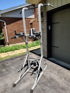 Ironman Power Tower Chin Pull Up Dips VKR Knee Raise Push Up