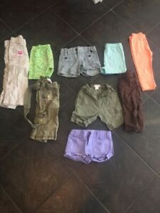 Girls size 2 shorts and capris