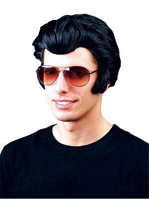 Men's 50's Kostüme (Mens Deluxe Presley Rocker 50s Fancy Wig The King Danny Adult 1950s Roll n Roll)