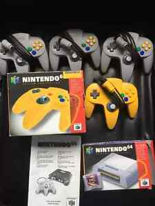 N64 controllers and memory card