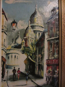 french artist Mario Anino oil painting Paris CityScape  $250 OBO