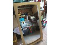 NEXT Oak large mirror