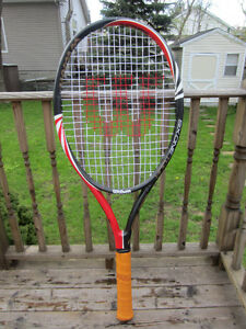 "3 - Human Size - 55"" Tall and 23"" Wide Head Tennis Racquet"