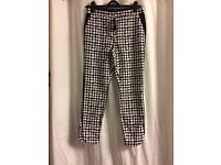Next black and white trousers 8R BNWT