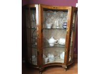 Oriental style china cabinet