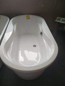 Brand new two piece free-standing acrylic bathtub