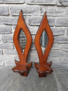 VINTAGE ACCENT WOODEN WALL MIRRORS
