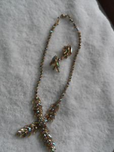 Sherman Necklace & Earrings Champagne Brilliant Swarovski