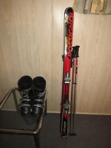 Ski Rossignol et bottes