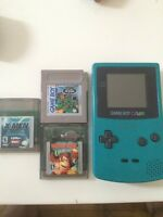 Nintendo gameboy color !! + 3 games